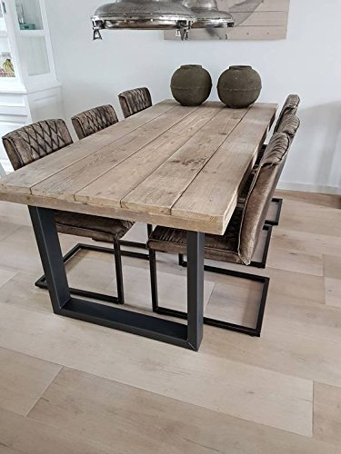 Mesa de comedor estilo industrial: Amazon.es: Handmade