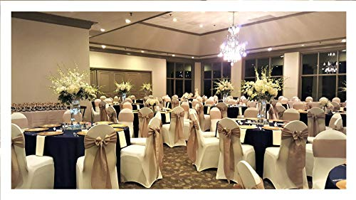 SPRINGROSE 50 Ivory Scuba Spandex Stretch Universal Wedding Chair Covers. It is Made for Use on Folding and Banquet Chairs.