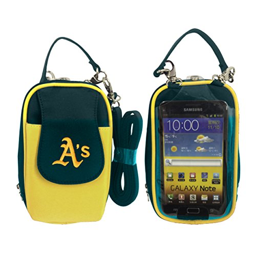 (Charm14 MLB Oakland Athletics Crossbody Cell Phone Purse XL Fits All Phones )