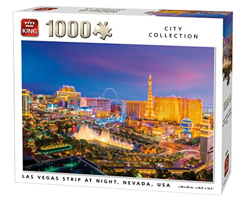 King 5705 Las Vegas Strip Jigsaw Puzzle 1000-Piece, 68 x 49 cm