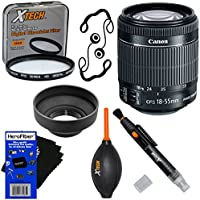 Canon EF-S 18-55mm f/3.5-5.6 IS STM Lens for Canon SLR Cameras (International Version) + 7pc Bundle Accessory Kit w/ HeroFiber Ultra Gentle Cleaning Cloth