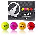 本間ゴルフ ゴルフボール D1 ボール 1ダース(12個入り) メンズ BT1601 マルチカラー  構造:2ピースボール