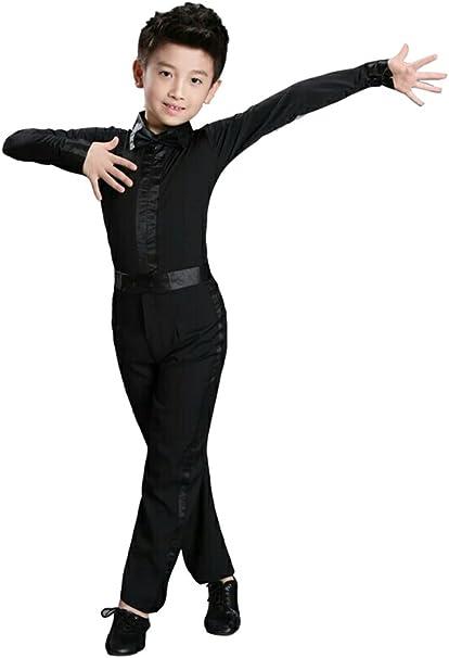 Ragazzo Danza Camicia Pantaloni Ballo Moderno Salsa Latino Tango Costume