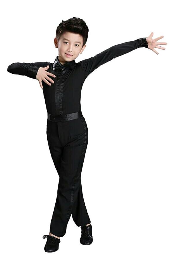 f61b20444 KINDOYO Niños Latín Baile Clásico Camisa Actuación Ropa Escénica Disfraces  Bailando Jazz Trajes  Amazon.es  Ropa y accesorios