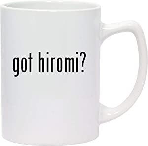 got hiromi? - 14oz White Ceramic Statesman Coffee Mug