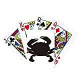 Black Crab Pattern Marine Organism Poker Playing Card Tabletop Board Game Gift