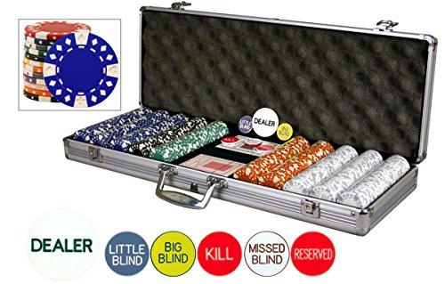 Da Vinci Premium Set of 500 11.5 Gram Diamond Suited Poker Chips W/6 Dealer Buttons, Cards, & (Abs Composite Chip)