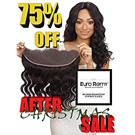 EURO REMY Brazilian Virgin 100% Unprocessed Human Hair Extensions 13×4 Lace Frontal Closure Free Part Bodywave 10 inches Natural