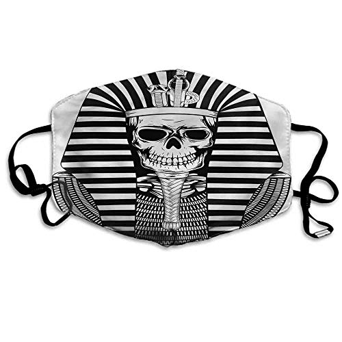 Paper Mache Mummy - King Fashion Mouth Mask Egypt Pharaoh Ruler Mummy for Cycling Camping Travel W4
