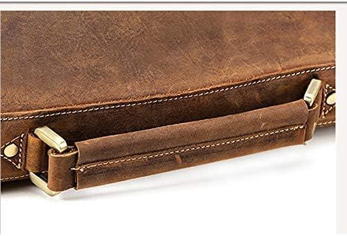 White wolf European and American Retro Leather Briefcase Crazy Horse Leather Man Bag Computer Bag Men Shoulder Messenger Bag