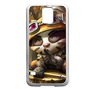 Teemo-005 League of Legends LoL For Case HTC One M7 Cover - Hard White
