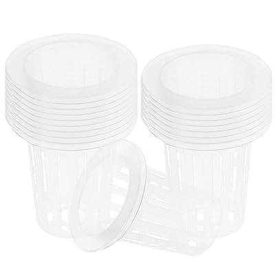 50PCS Net Pots/Nursery Pots, Garden Plastic Net Cups Pots, Round Heavy Duty Net Cups Pots for Hydroponics Orchids, Aquaponics, Aquaculture, Hydroponics Slotted Mesh: Toys & Games