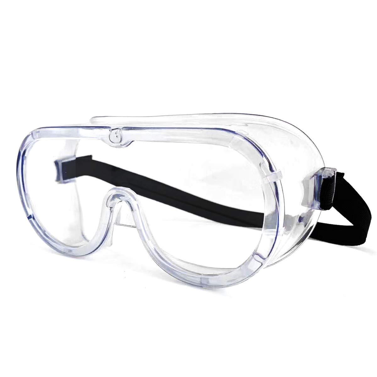 Gafas de seguridad transparentes envolventes de seguridad selladas con impacto ocular, gafas de trabajo selladas sobre gafas para bricolaje, laboratorio etc.(Vendedor laixiulife Amazon delivery)