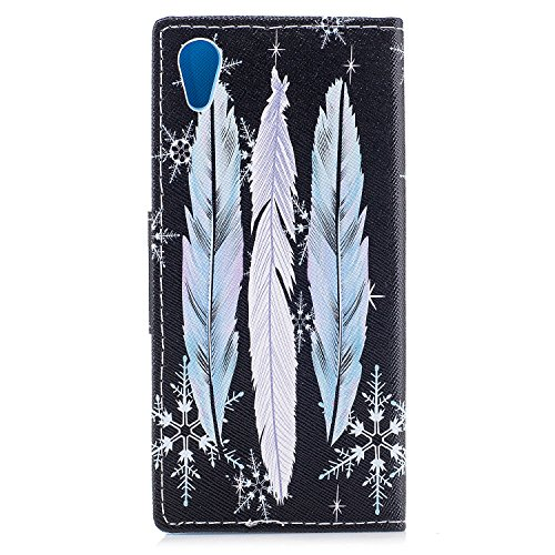 Ecoway Serie pintada Caja del teléfono de moda para Sony Xperia XA1 - Three feathers Three feathers