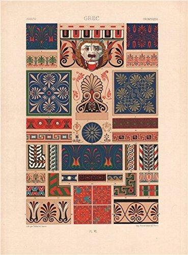 amazon com racinet ornement polychrome 6 ancient greek decorative