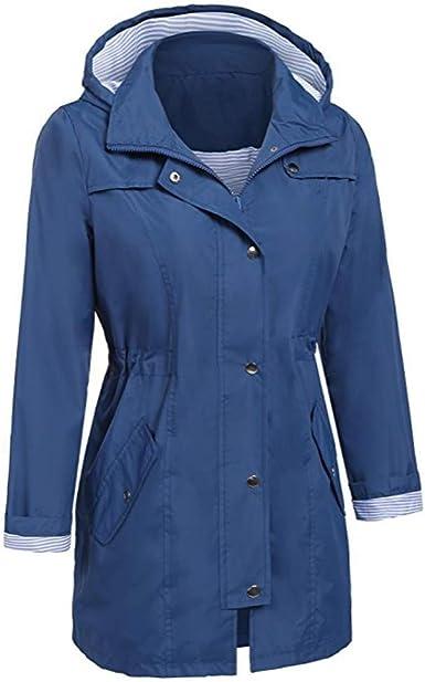 ImperméAble Manteau à Capuche Long Femme De Pluie Trench Capuche à La Mode Femme Manteau De Pluie Raincoat Hoodie Vestes Waterproof
