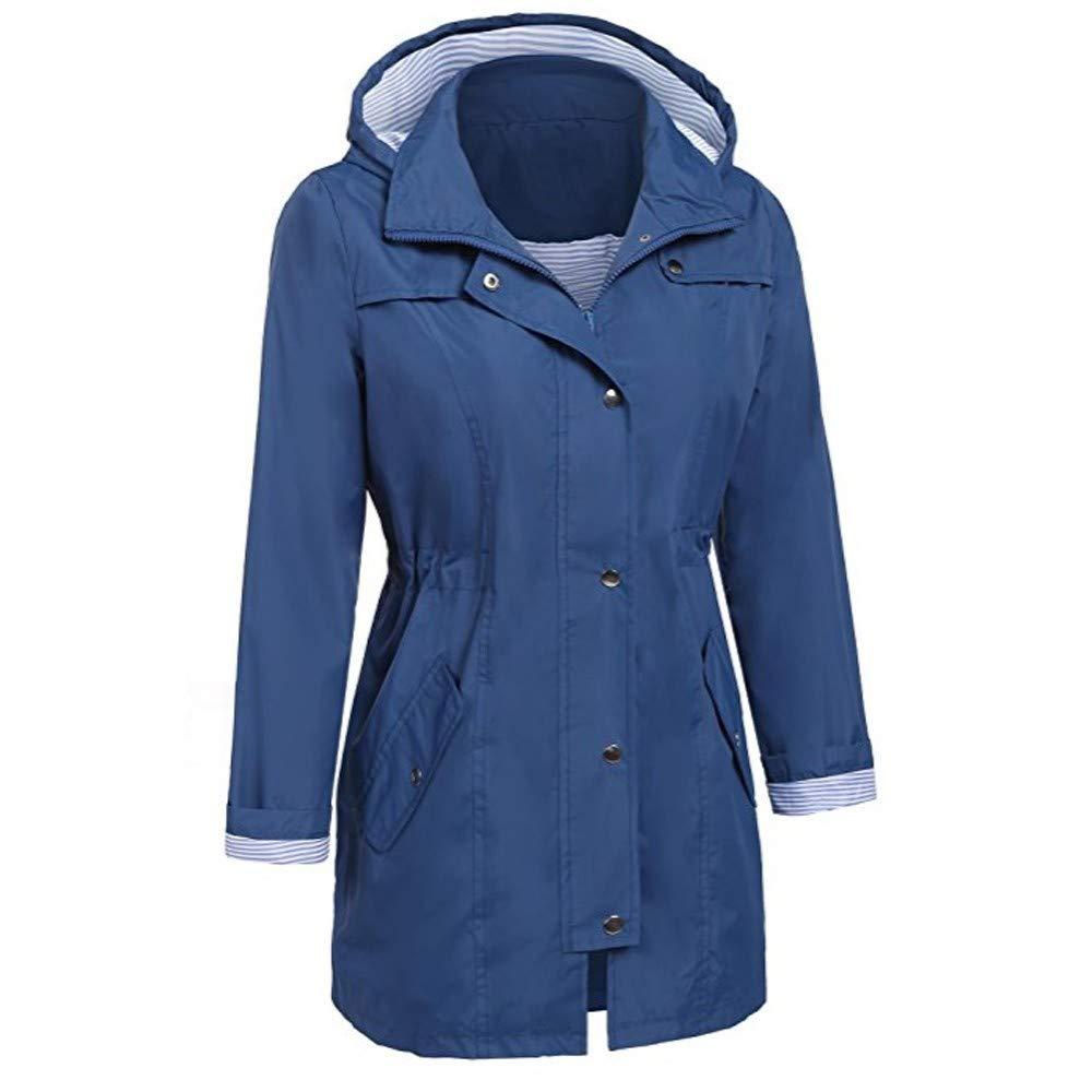 FNKDOR Waterproof Rain Jacket Lightweight Raincoat Outdoor Windproof Jacket Hoodie Coats