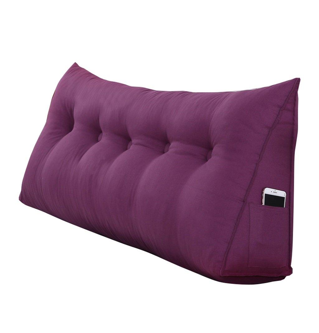 抱き枕 大きな三角形のウェッジピローは、背中のクッションと本の枕を読む枕として使用することができます。ベッドのベッドサイド(フクシア)の腰のクッションの首のピローの背もたれ (サイズ さいず : 180 * 50 * 20cm) B07FL34RJD  180*50*20cm