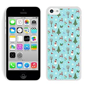 Iphone 5C Case,5C cases,Christmas animals Iphone 5C Case White Cover