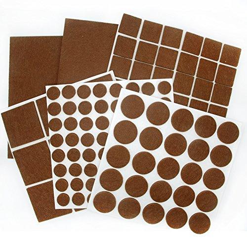 BIGFOX Heavy Duty Adhesive Felt Furniture Pads Non Slip To Protect Hardwood  Floors For Tiled, Laminate, Wood Flooring   136 Pieces Floor, Felt Chair  Pads, ...