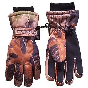 N'Ice Caps Kids Cold Weather Waterproof Camo Print Thinsulate Ski Gloves