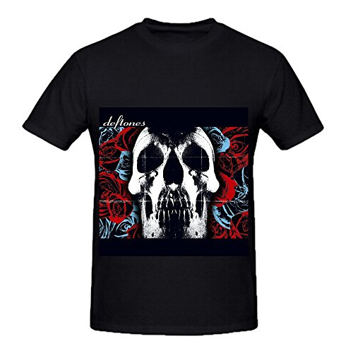 Deftones Mens Crew Neck Music T Shirt Black