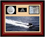 Navy Emporium USS BARB SSN 596 Framed Navy Ship Display Burgundy