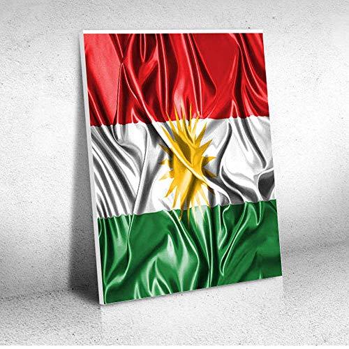 Quadro Decorativo - Kurdistan Kurd Kurds Kurdish Flag - Quadro 30x40