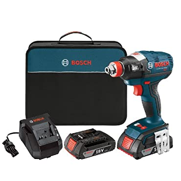 Bosch IDH182-02 18V 1/4 Hex, 1/2 Square Cordless Impact Driver, (2) 2.0Ah Batteries