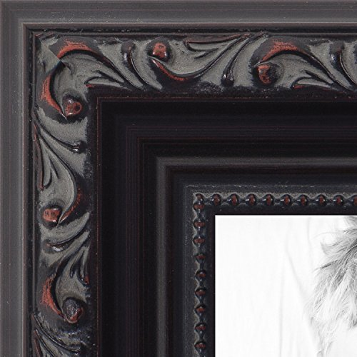 ArtToFrames 16x20 inch Black with Beads Wood Picture Frame, WOMD10188-16x20