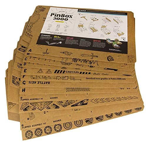 Cardboard Teck Instantute PinBox 3000 DIY Customizable Cardboard Make Your Own Pinball Machine Kit with No Tool Assembly by Cardboard Teck Instantute (Image #3)