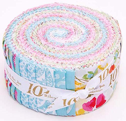 Lila Tueller Designs Sweet Melody Rolie Polie 40 2.5-inch Strips Jelly Roll Riley Blake RP-8400-40 ()
