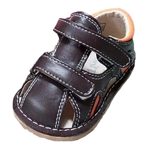 Ohmais Kinder Baby Jungen Baby Kleinkind Schuh Leder weich Kaki