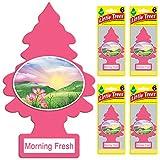 LITTLE TREES auto air freshener, Morning Fresh, 6-packs (4 count)