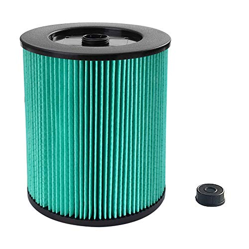 17912 & 9-17912 HEPA Vacuum Filter Compatible with Craftsman, Filter No.9-17912 fits 5, 6,8,9,12,14,16 and 32 gal vacs or larger made after 1988