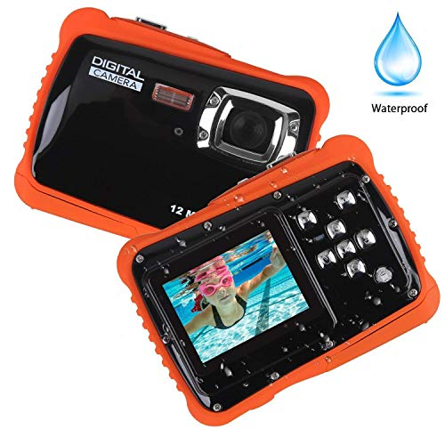Smyidel Waterproof Mini Kid Camera High Definition 12MP HD 3M Underwater Swimming Digital Camera Camcorder 2.0 Inch LCD Display -