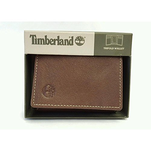 Timberland Mens Leather Trifold Wallet With ID ()