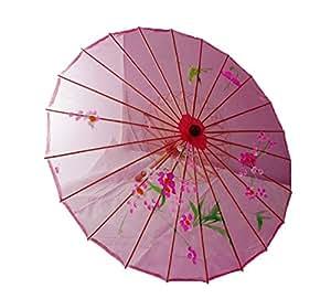Sombrilla de Geisha China - Rosa - 36 cm