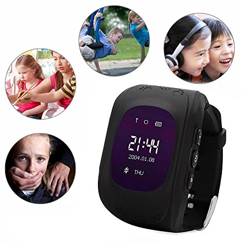 Hangang Kid Smart Watch GPS Tracker Wrist Phone Game Watch for Kids Child Boys Girls SOS anti-lost Alarm Remote Monitor with SIM Card Compatible for iOS Android Touch Screen Birthday Gifts (black)
