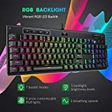 PICTEK Mechanical Gaming Keyboard, 7 LED Lighting