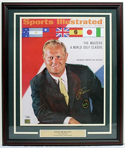 JACK NICKLAUS SIGNED AUTO 16x20 PHOTO FRAMED SPORTS ILLUSTRATED FANATICS A119568