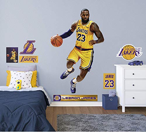 73b7e832d808 Fathead NBA Los Angeles Lakers LeBron James - Life-Size Officially Licensed  NBA Removable Wall