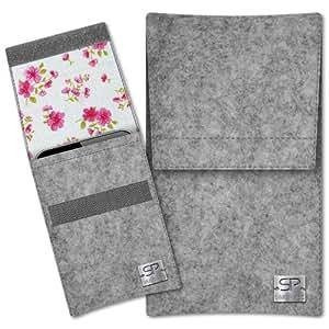 SIMON PIKE Cáscara Funda de móvil Sidney 14 gris Samsung REX80 Fieltro de lana