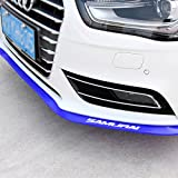 Automotive : HENGJIA Auto Parts Universal Fit Rubber bumper Car front bumper spoiler lip Splitter Side Skirt Roof Spoiler,100% waterproof protection (2.5 meters, blue)…