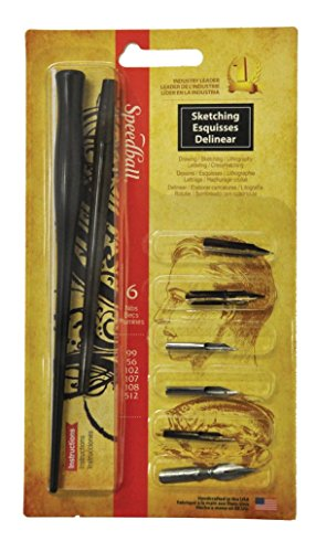 Pen And Ink Drawing Supplies - Speedball Art Products SB2964 Sketching Project Set