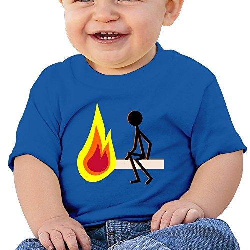 Kim Lennon Move Fire Dangerous Custom Kid Short-sleeve Tshirt Size Size Key RoyalBlue