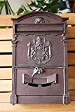 Aluminum Wall Mounted Mailbox with Keys and Lock (Bronze)