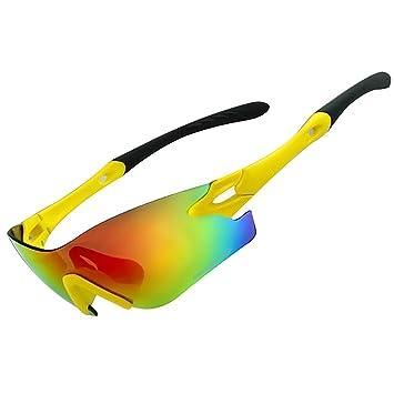 vitalite-basecamp Cyclisme Lunettes de soleil lentille HD pour Sports de plein air, Blanc-bleu
