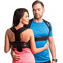 New Back Posture Corrector for Men and Women-Fully Redesigned Posture Brace for Maximum Comfort Thoracic Brace- Clavicle Support Man for Slouching & Hunching