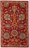 Safavieh Heritage Collection HG655A Handcrafted Traditional Red Premium Wool Area Rug (3' x 5')